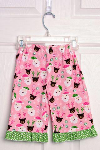 Girl santa pants
